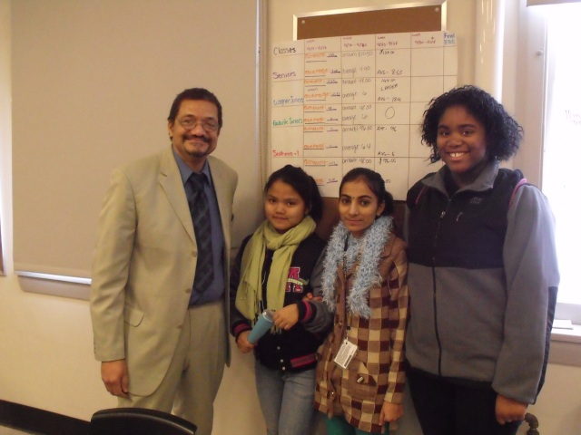 Writer Randy Camp with high school students after a Book Discussion on his novel WET MATCHES