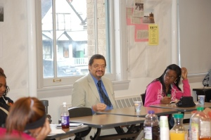 Writer Randolph Randy Camp speaking with Students from East High School in Buffalo, NY