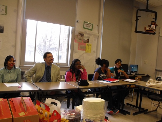 Writer Randy Camp at East High School in Buffalo, NY