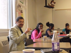 Writer Randy Camp with students from East High School in Buffalo, NY
