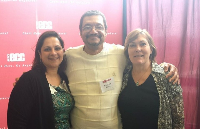 Randy Camp with friend Karen (dark hair) and Ms. Conley on May 2, 2014 at ECC Scholarship Luncheon in Williamsville, NY.