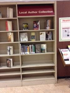 Local Author Display, Buffalo & Erie County Central Library, June 2015